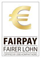 Mit dem Fairpay-Siegel werden Firmen ausgezeichnet, die eine faire und soziale Personalpolitik garantieren