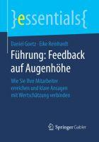 Führung: Feedback auf Augenhöhe (Cover) - erschienen im Fachverlag Springer Gabler (Nov 2016)