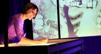 Künstler begeisterten mit Sandmalerei Show auf Firmenfeier