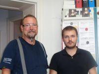 Iván Fernandez Molina (rechts) mit seinem Ausbilder, Installateurmeister Olaf Rathman, in dessen Gas-Wasser-Sanitärfirma