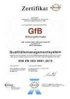 ISO-Zertifikat GfB-Bildungsformate