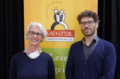 Huguette Morin-Hauser, MENTOR Bundesverband und Dr. Felix Giesa, Goethe-Universität Frankfurt