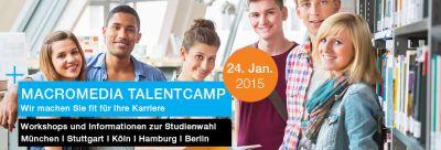 Samstag, 24.01.2015: Hochschule Macromedia TalentCamp – mit Kreativworkshops zur richtigen Studienwahl