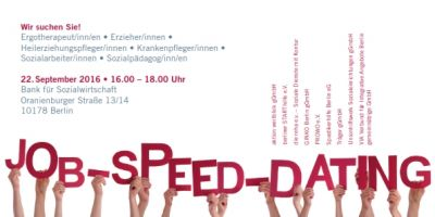 Flyer Job-Speed-Dating Berlin
