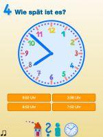 """Lernspiel für Kinder """"Wie spät ist es?"""" für iPads, iPhones und Android-Geräte von Planet Bildung"""