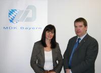 Frau Annett Kloschkewitz mit Herrn Dr. Michael Röder, Regionalleiter Ost des MDK Bayern