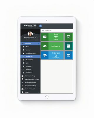 iPad mit Dashboard MNSpro Cloud Basic