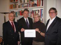 v.l.n.r.: Andreas Hofert (IfKom), Heinz Leymann (IfKom), Prof. Dr. Gudrun Kammasch (IPW), Prof. Dr. Ralph Dreher (IPW)