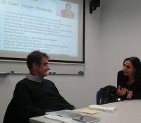 Jürgen Wiebicke im Gespräch mit Prof. Dr. Marlis Prinzing, Foto: Anne Serwas