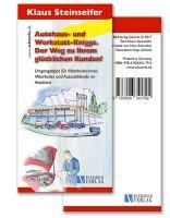 Titel des Büchleins: KFZ und Autohaus-Knigge - Titel sind auch individualisierbar für Arbeitgeber.