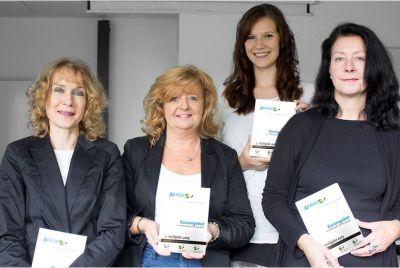 v. l. n. r. Mitarbeiterinnen der Geschäftsstelle: Geschäftsführerin Angelika Herl, Ute Schönberg, Stefanie Schippers, Petra Meyer