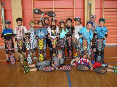 Prima-Schulsport in einer Schulklasse