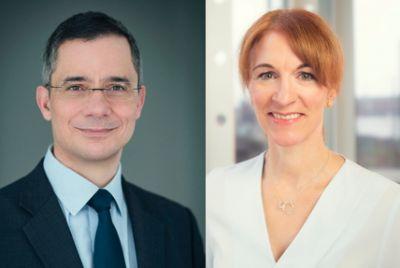 Rolf Slickers (Servitex) und Merle Losem (Deutsche Hotelakademie).