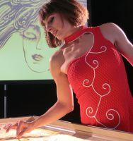 Showeinlage von Sandmalerin Sabrina sorgte für Begeisterung bei Firmenfeier