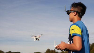 Drohnenjournalismus - Macromedia-Studierende machen den Praxistest (Foto: Andreas Hebbel-Seeger/Macromedia)