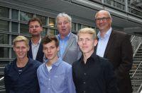 Das Sportjournalistik-Stipendium der Hochschule Macromedia 2015: Bewerber und Juroren.