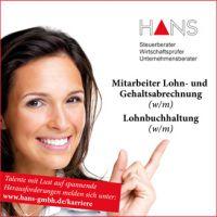 Kanzlei Hans sucht Mitarbeiter für die Lohn- und Gehaltsabrechnung / Lohnbuchhaltung in Voll- oder Teilzeit