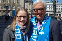 MHMK-Reporterin Franziska Hänlein trifft SPD-Fraktionschef Frank Walter Steinmeier