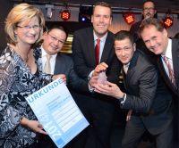 Strahlende Sieger bei der Preisverleihung in Köln