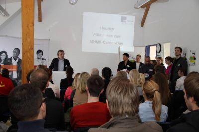 Eröffnung des vierten Career Days durch Prof. Dr. Thomas Döbler