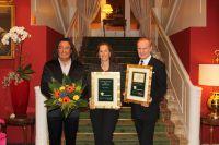 Stéphane Etrillard gratuliert den ausgezeichneten Speaker-Persönlichkeiten (v.l.n.r.). Foto: Rosemarie Hofer