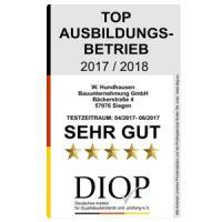 W. Hundhausen wurde als Top Ausbildungsbetrieb ausgezeichnet