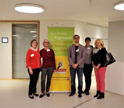 Experten des Fachtags, Huguette Morin-Hauser, MENTOR Bundesverband 2. von links, Frank Münschke, boys&books, 3. von links