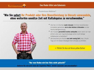 Uwe Rieder Sofort Umsatz ohne Kaltakquise