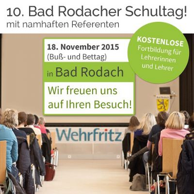 Am 18. November 2015 lädt die Wehrfritz GmbH zur kostenfreien Lehrer(innen) - Weiterbildung ein.
