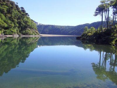 Blick auf Laguna Blanca, Chile, Araukania, Curacautin