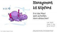 """""""Management by Nilpferd"""" die erste von mehreren """"Management by ...""""-Karten"""