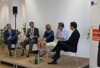 Diskutanten mit Moderator Prof. Dr. Matthias Degen (MHMK)