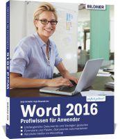 Word 2016 - Profiwissen für Anwender, ISBN: 978-3-8328-0176-2