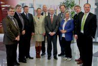 v.l. Manfred Krumpholz, Ewald Schurer, MdB, Ralf Holtzwart, Sabina Ott, Manfred Geier, Michael Obertshauser, Bernd Zimmer,
