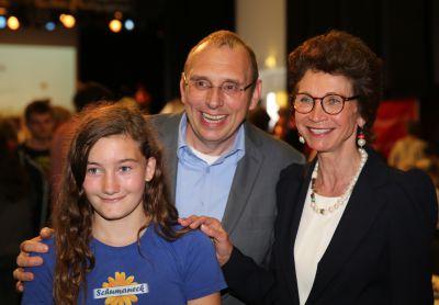 Paulina Eberhard, Bernhard Schumacher, Jeannette Gräfin Beissel von Gymnich (v.l.)