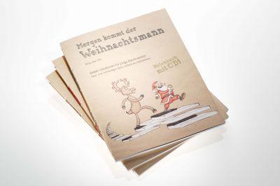 """Zauberhaft gestaltetes Cover """"Morgen kommt der Weihnachtsmann"""" – Notenbuch mit CD"""