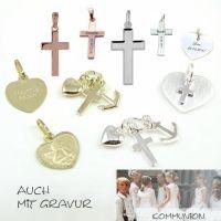 Schmuck zur Kommunion mit persönlicher Gravur als Geschenkidee zur Erstkommunion