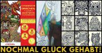 Über 50 wunderschöne Illustrationen garantieren Malspass für Wochen.