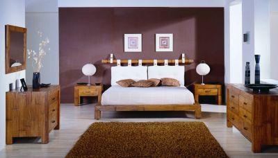 Bambusbetten aus der Schlafzimmer Kollektion Afrika - Exotischerleben