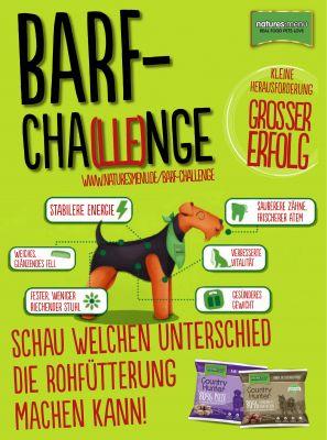 Plakat der BARF-Cha(lle)nge von Natures Menu