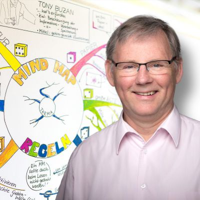 Studienrat Jens Voigt beschäftigt sich seit 1995 mit Gedächtnistraining und neuen Lernmethoden.