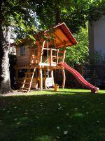 Houtwerken-Spielgeräte unser Baumhaus 2012