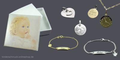 Wunderschöne Geschenkidee: Gravierter Kinderschmuck aus echtem Gold oder Silber