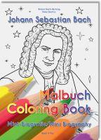 """Das Bach Malbuch: Ausgedacht von einem Cousin J.S. Bachs, gemalt von einer Cousine Bachs und publiziert von """"Bach 4 You""""."""