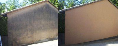 Fassadenreinigung vorher und nachher - selbstentwickelte Produkte lösen diese Probleme zuverlässig