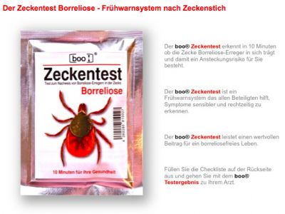 BOO Zeckentest Borreliose