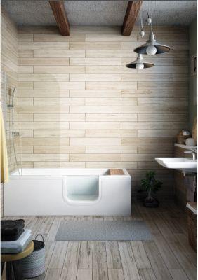 Conforma Badewanne mit integriertem Duschbereich von VitrA Bad