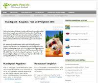 hunde-pool.de gibt Tipps rund um Hundepools, Hundeschwimmbecken und Abkühlungsmöglichkeiten für Hunde im Sommer