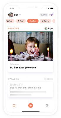 Screenshot Juno Erinnerungsalbum-App (Copyright DWD Products GmbH)
