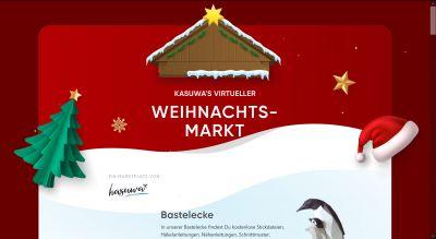 kasuwa's erster virtueller Weihnachtsmarkt für liebevoll Selbstgemachtes öffnet am 20.11.2020 seine Pforten